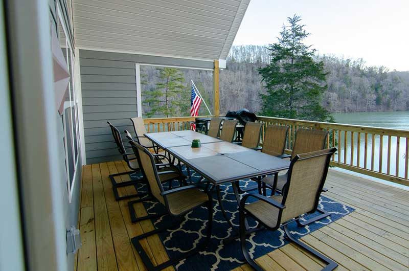 Norris Lake Properties | American Spirit; Norris Lake House Rental | Deck Dining