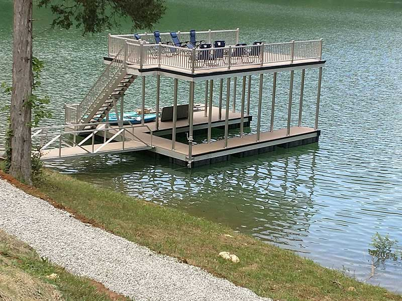 Norris Lake Properties | American Spirit; Norris Lake House Rental | Double Decker Dock