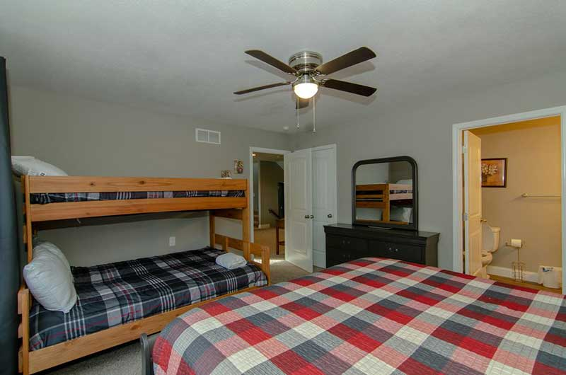Norris Lake Properties | American Spirit; Norris Lake House Rental | Bedroom with Bunk Beds