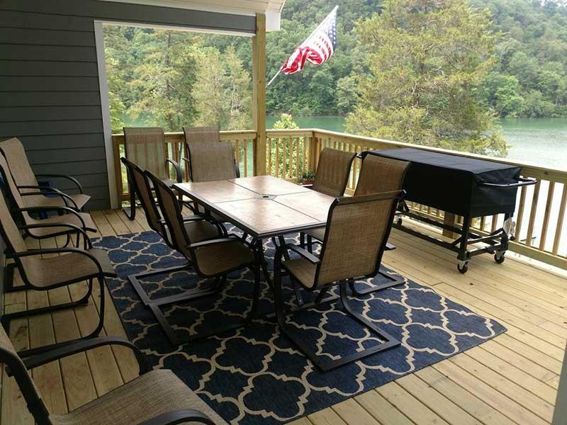 Norris Lake Properties | American Spirit; Norris Lake House Rental | Deck Dining