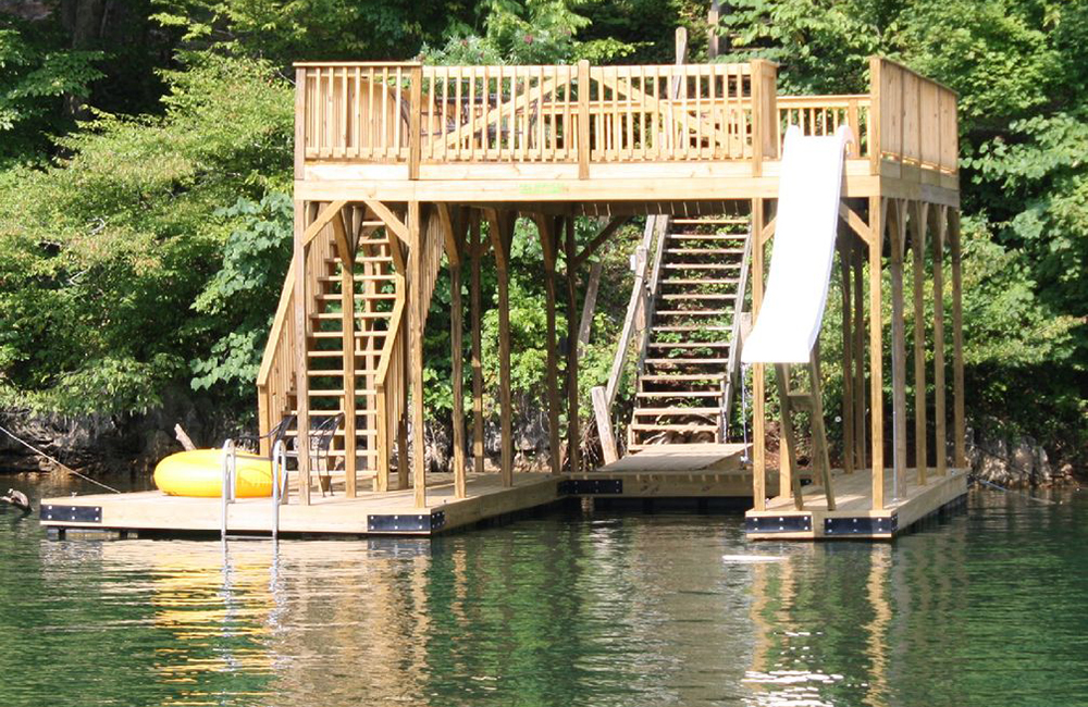 Norris Lake Properties | Crescent Moon; Norris Lake House Rental | Double Decker Dock
