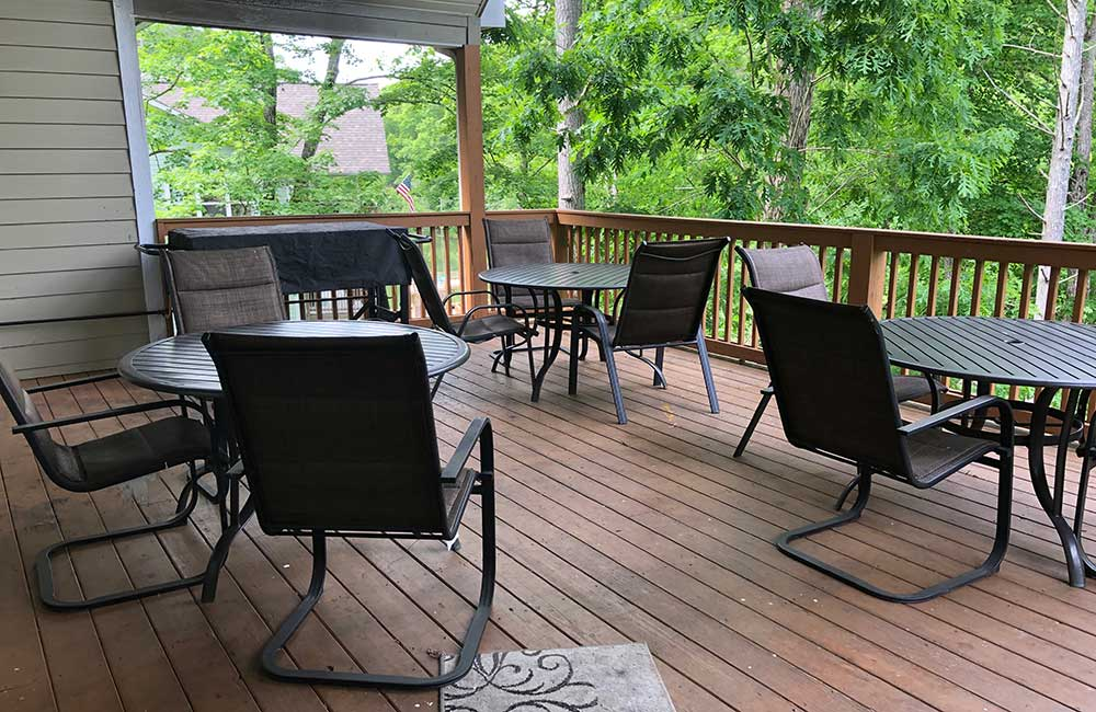 Norris Lake Properties | Crescent Moon; Norris Lake House Rental | Deck Dining