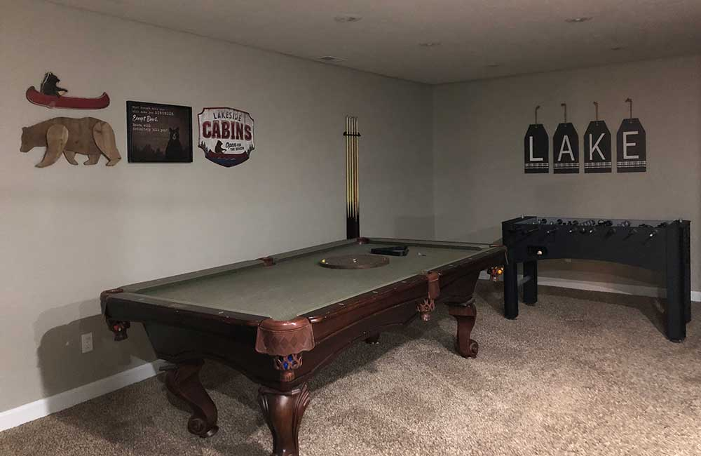 Norris Lake Properties | Crescent Moon; Norris Lake House Rental | Game Room