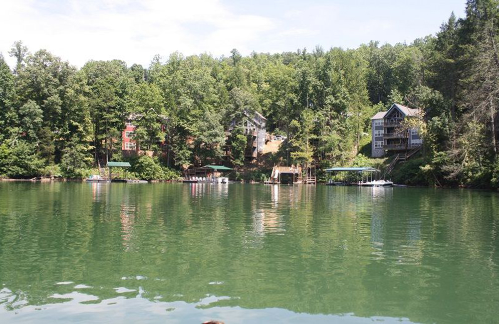 Norris Lake Properties | Crescent Moon; Norris Lake House Rental | View from the Lake