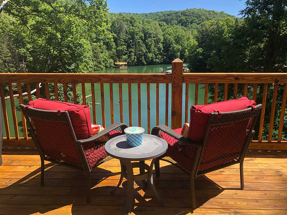Norris Lake Properties | Faith, Family, Friends; Norris Lake House Rental | Deck View of the lake