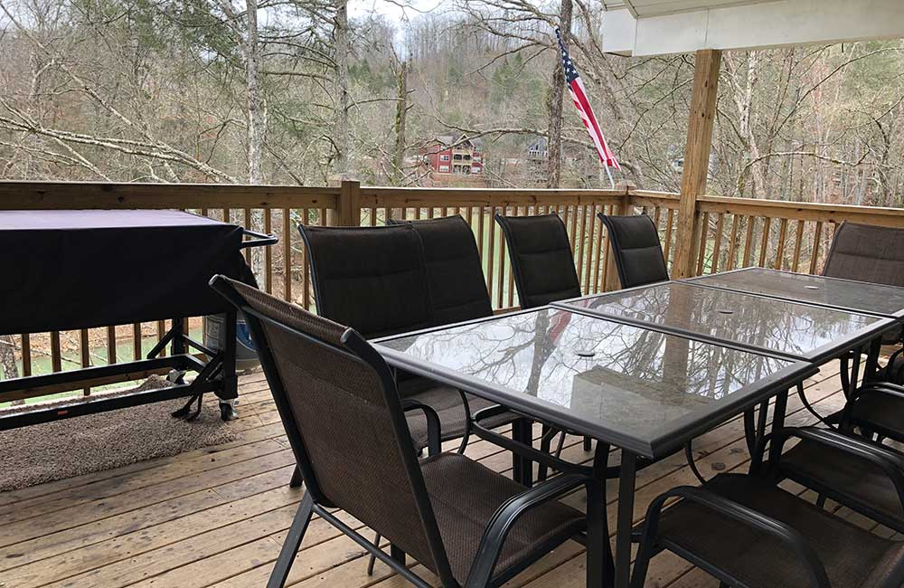 Norris Lake Properties | Great Blessing; Norris Lake House Rental | Deck with Dining