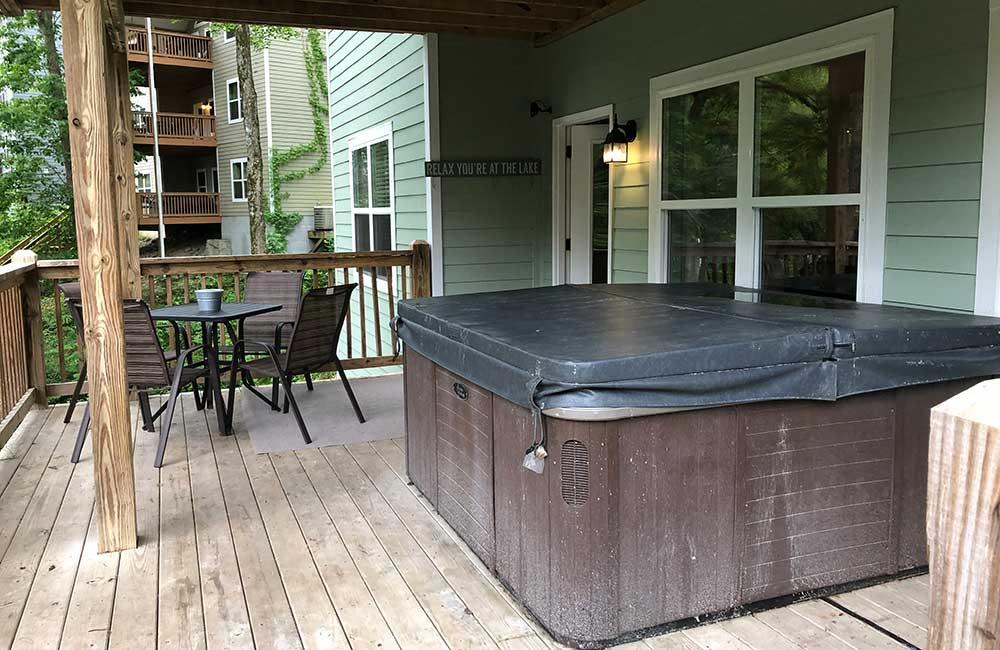 Norris Lake Properties | Great Blessing; Norris Lake House Rental | Deck with Hot Tub