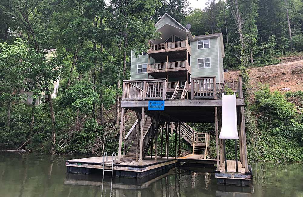 Norris Lake Properties | Great Blessing; Norris Lake House Rental | View from the Lake