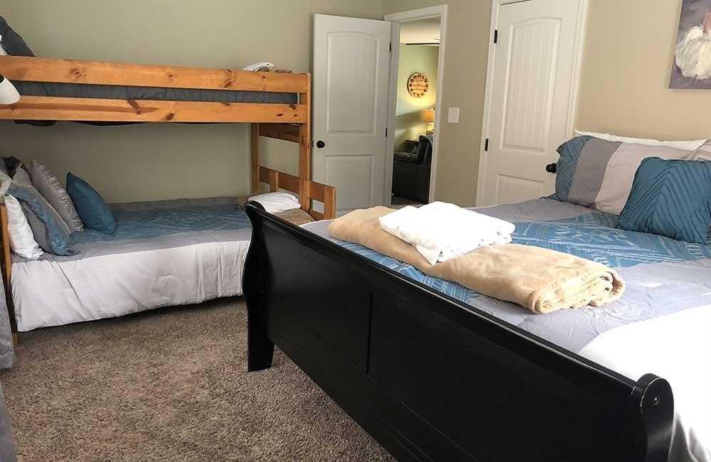 Norris Lake Properties | Great Blessing; Norris Lake House Rental | Bedroom with Bunk Beds