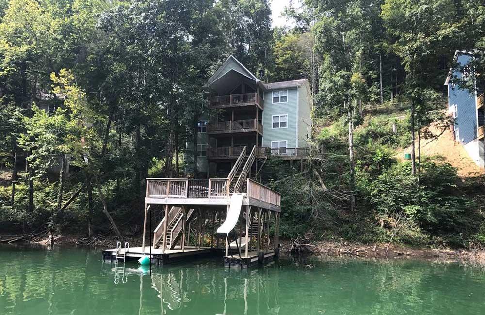 Norris Lake Properties | Great Blessing; Norris Lake House Rental | Lake View of the House