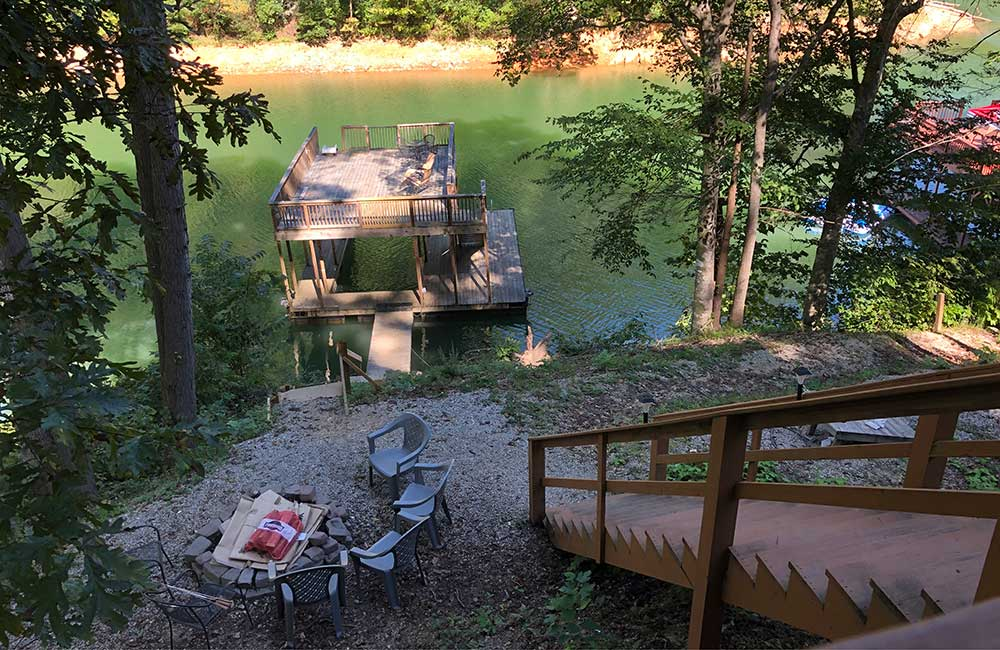 Norris Lake Properties | Crescent Moon; Norris Lake House Rental | View from the Deck