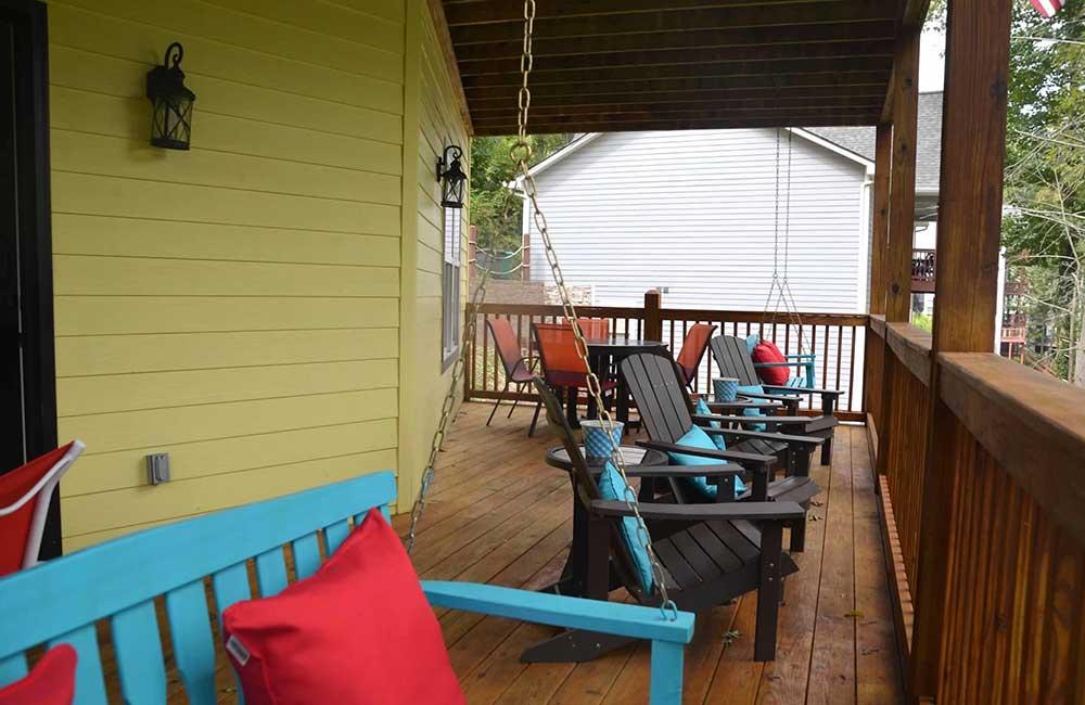 Norris Lake Properties   Faith, Family, Friends; Norris Lake House Rental   Deck Swings